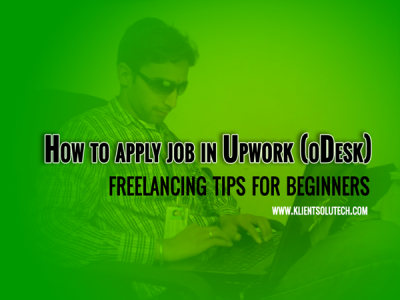 How to apply for jobs on upwork