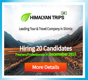 Job/career himalyantrips.com shimla