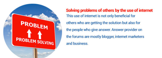 Uses of Internet as problem solving tool