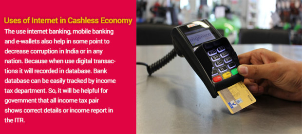 Use of Internet to support cashless economy