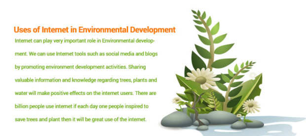 uses of Internet in the development of Environmental development activities