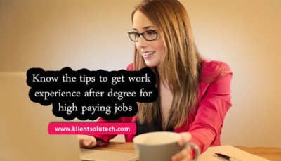 know the ways to get work experience for job
