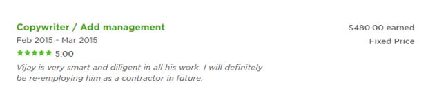 Client Feedback After Successful Completed Jobs