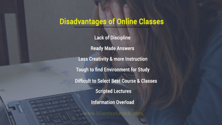 7 disadvantages of online classes