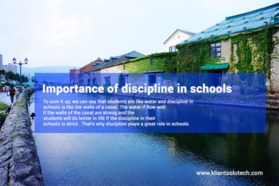 Importance of discipline in school life
