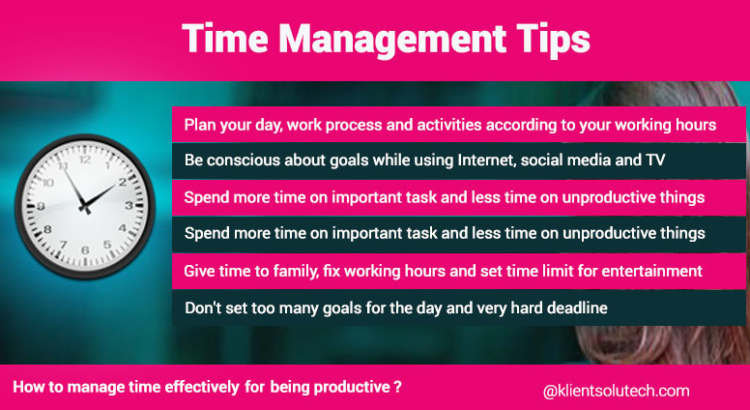 How to manage your time effectively see the tips