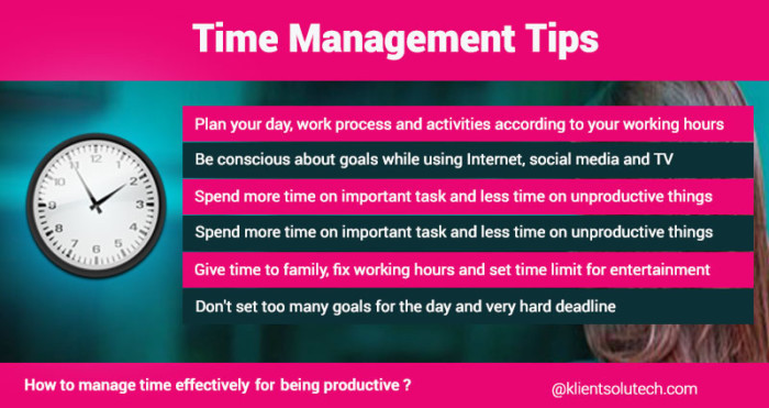 Time management skills at work