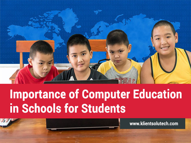 an introduction to the importance of computers in education Let us now hear a strong fighter for the introduction of computers in education,  the introduction of computers is not the  most important of all in my view is .