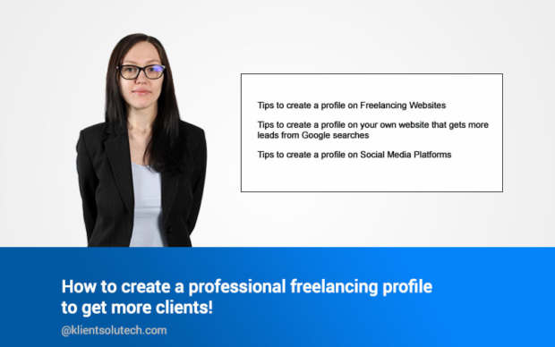 Create a professional looking freelancing profile