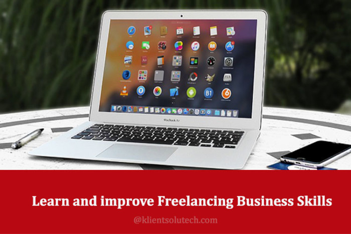 How to learn and improve freelancing business skills