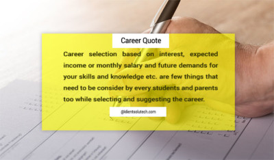 Career Quote: Choose a best career