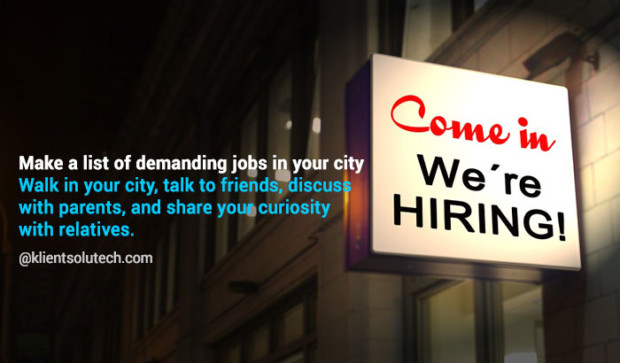 make list of demanding career in your city offline