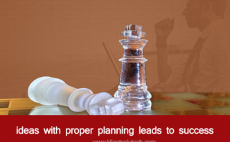A man making plans for success like chess player