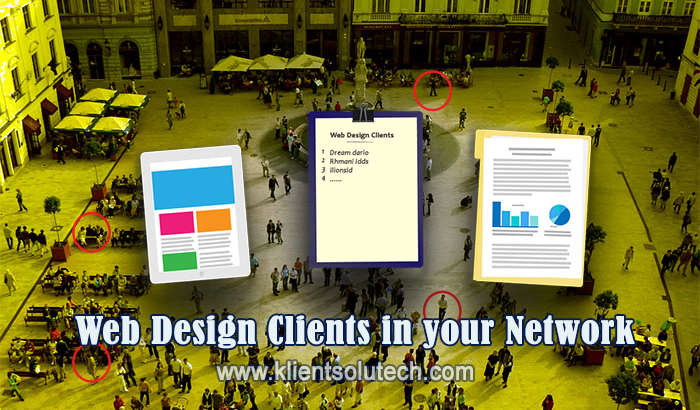get clients for your web design business every month
