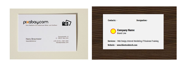Business card in microsoft word excercise and sample klient solutech business card exercise ms word reheart Choice Image