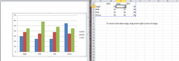 Create chart in Microsoft Word