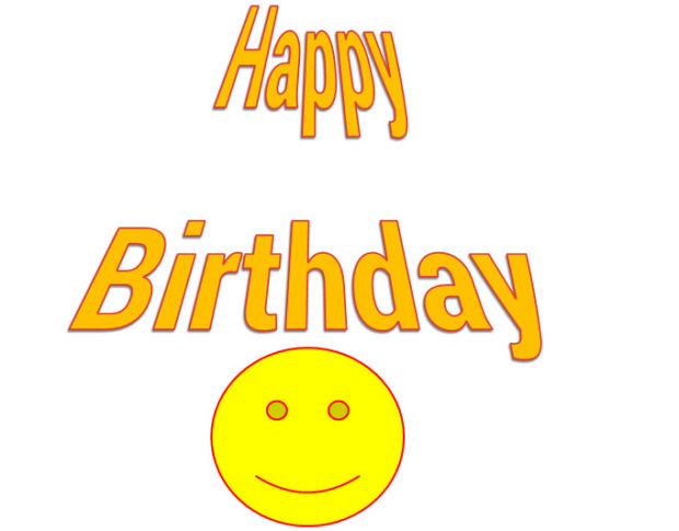 happy birthday message in microsoft word