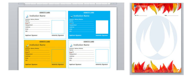 identity card exercise in ms word