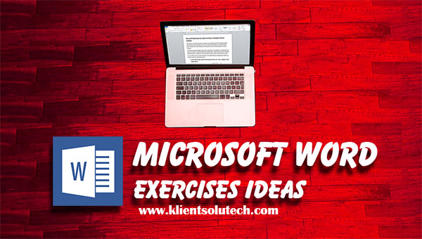 List of microsoft word exercises for students klient solutech list of microsoft word exercises for students ibookread ePUb