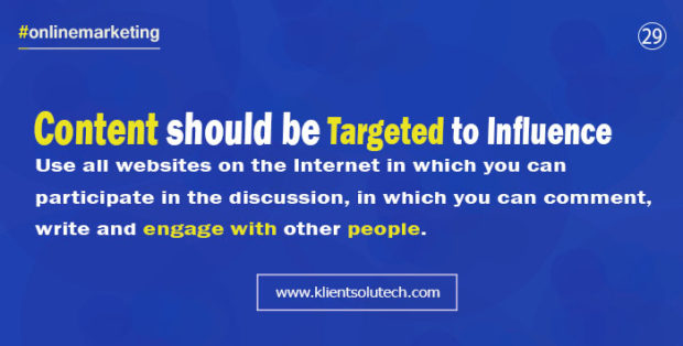 promote business online using targeted content