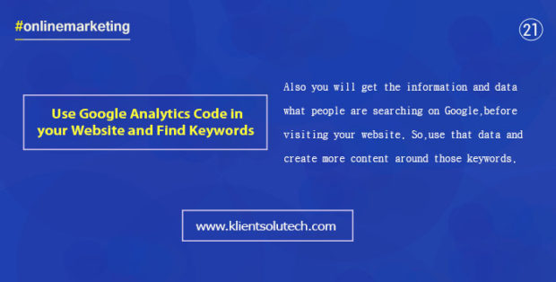 use google analytics search query function and create more content around those keywords
