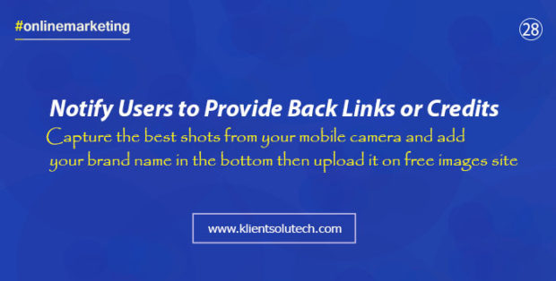 share free images and get backlinks