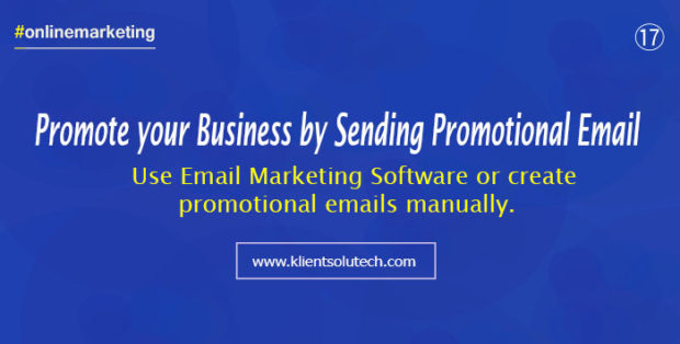 use email marketing strategies to promote your business