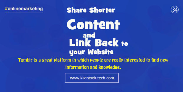 get backlinks from tumblr to your website by sharing images and content