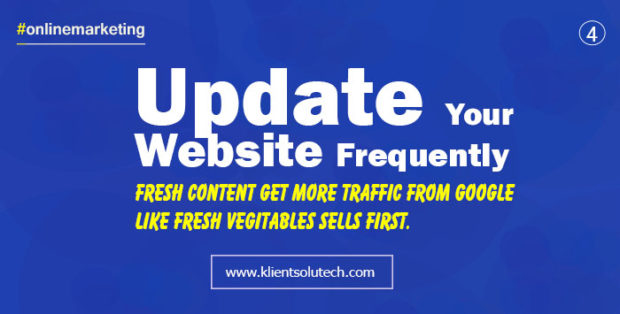 More fresh content - more organic traffic - #online marketing quotes