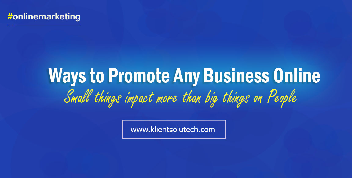 39 ways to promote your business online