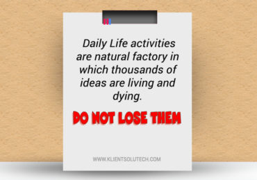 do not lose daily life ideas for blog post