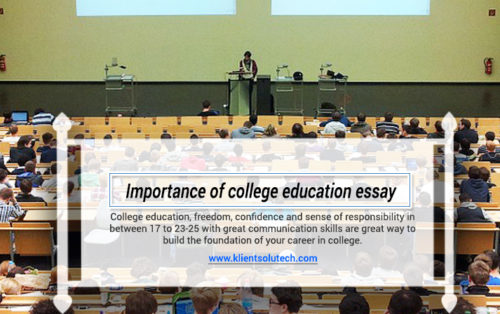 An Argumentative Essay: Why College Is Important For A Successful Career?