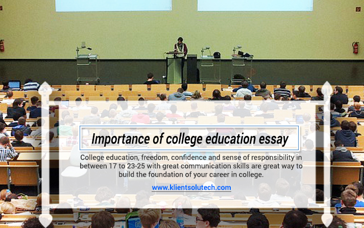 Essay about college education
