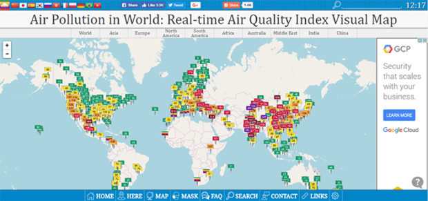real time air quality index visual