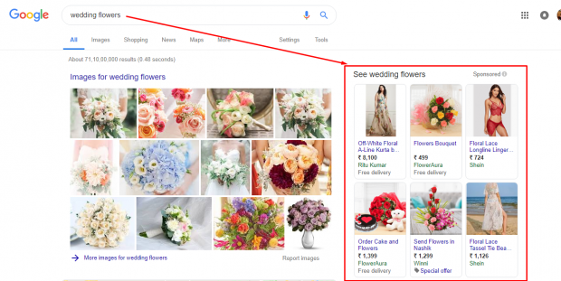 search engine marketing side bar example